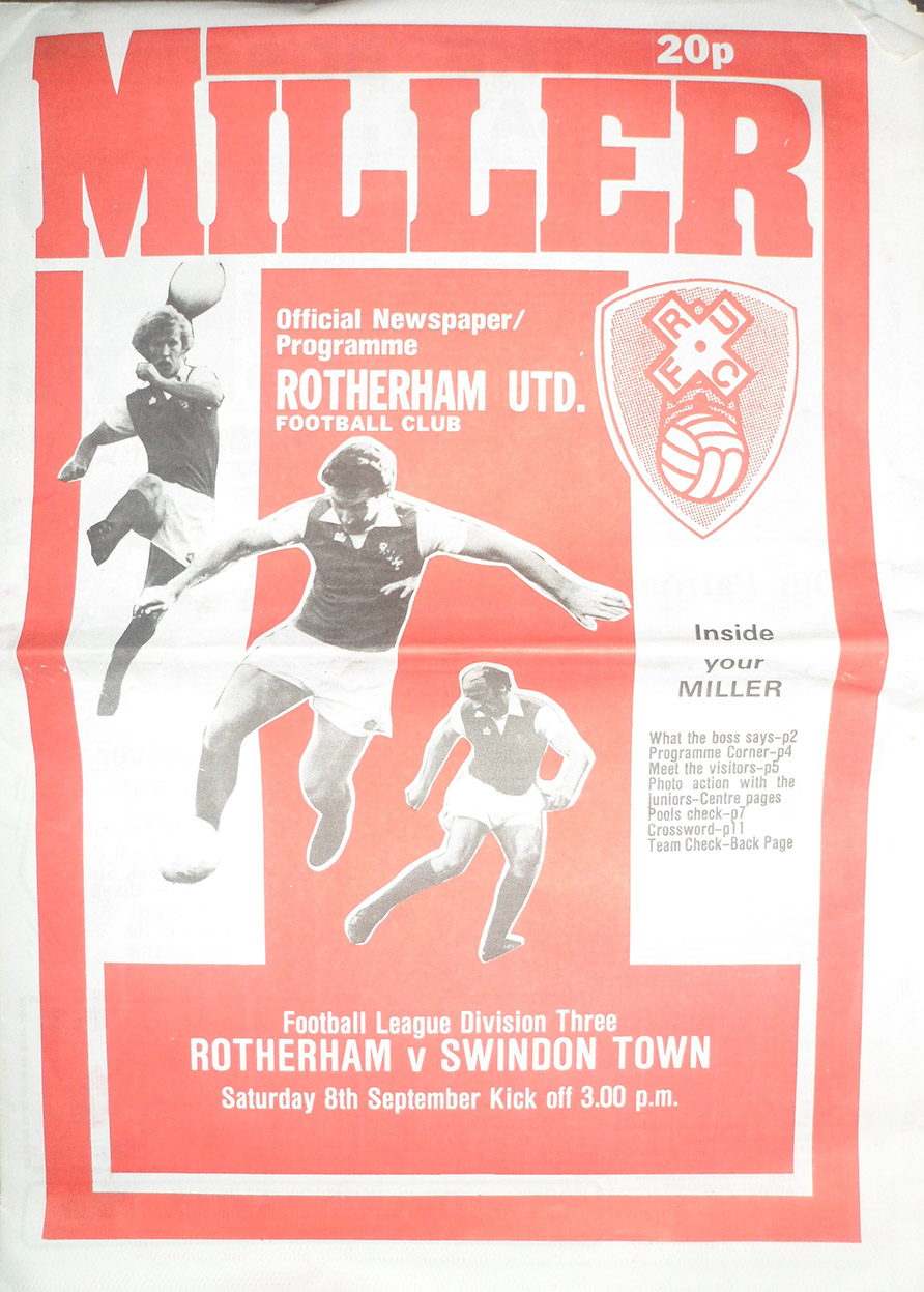 <b>Saturday, September 8, 1979</b><br />vs. Rotherham United (Away)