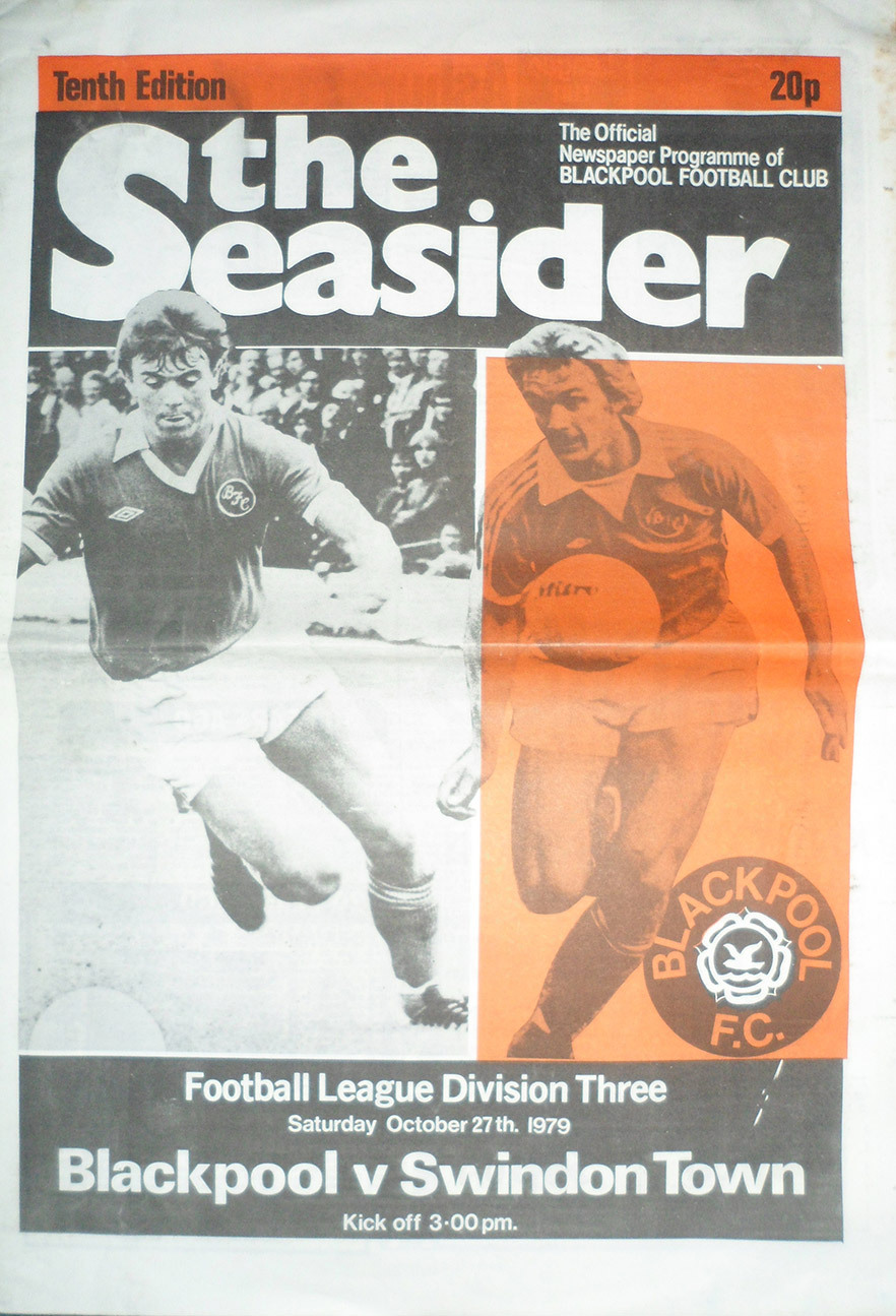 <b>Saturday, October 27, 1979</b><br />vs. Blackpool (Away)