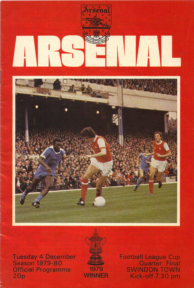 <b>Tuesday, December 4, 1979</b><br />vs. Arsenal (Away)