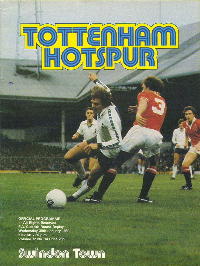 <b>Wednesday, January 30, 1980</b><br />vs. Tottenham Hotspur (Away)