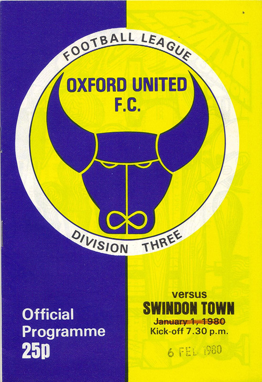 <b>Wednesday, February 6, 1980</b><br />vs. Oxford United (Away)