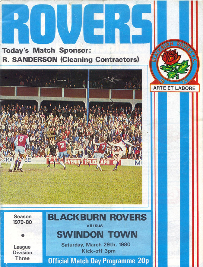 <b>Saturday, March 29, 1980</b><br />vs. Blackburn Rovers (Away)