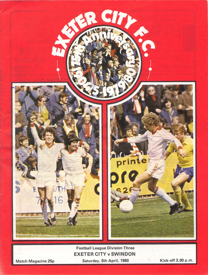 <b>Saturday, April 5, 1980</b><br />vs. Exeter City (Away)