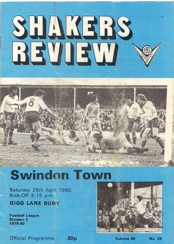 <b>Saturday, April 26, 1980</b><br />vs. Bury (Away)