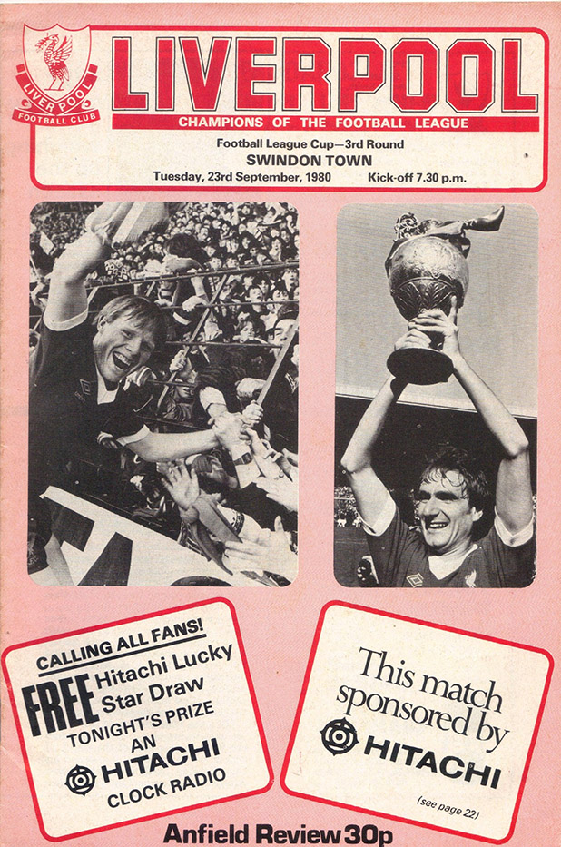 Tuesday, September 23, 1980 - vs. Liverpool (Away)