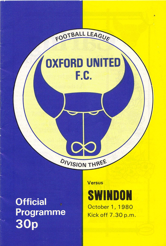 Wednesday, October 1, 1980 - vs. Oxford United (Away)