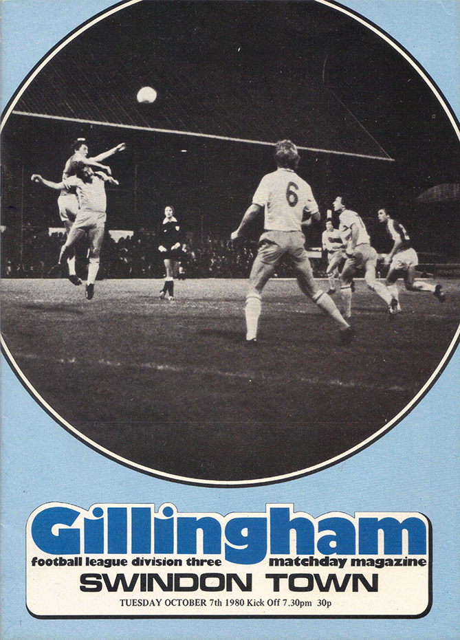 Tuesday, October 7, 1980 - vs. Gillingham (Away)