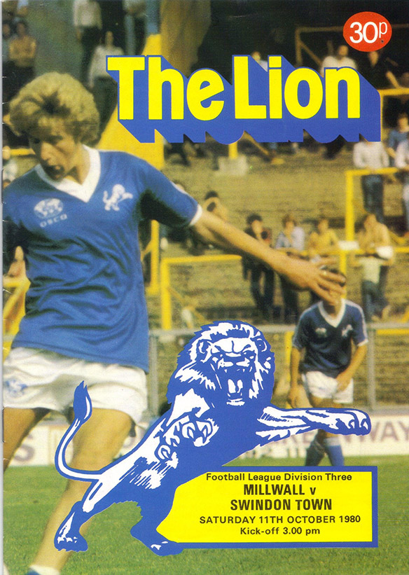Saturday, October 11, 1980 - vs. Millwall (Away)