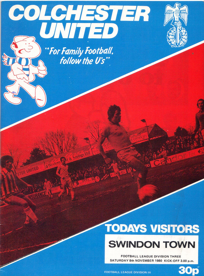 Saturday, November 8, 1980 - vs. Colchester United (Away)