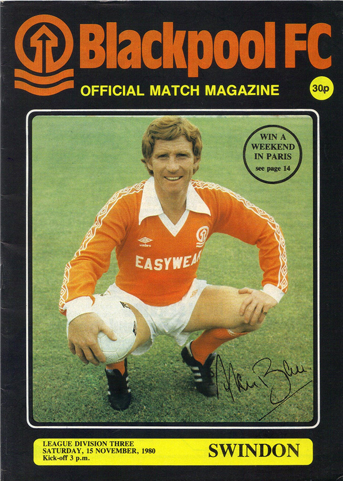 Saturday, November 15, 1980 - vs. Blackpool (Away)