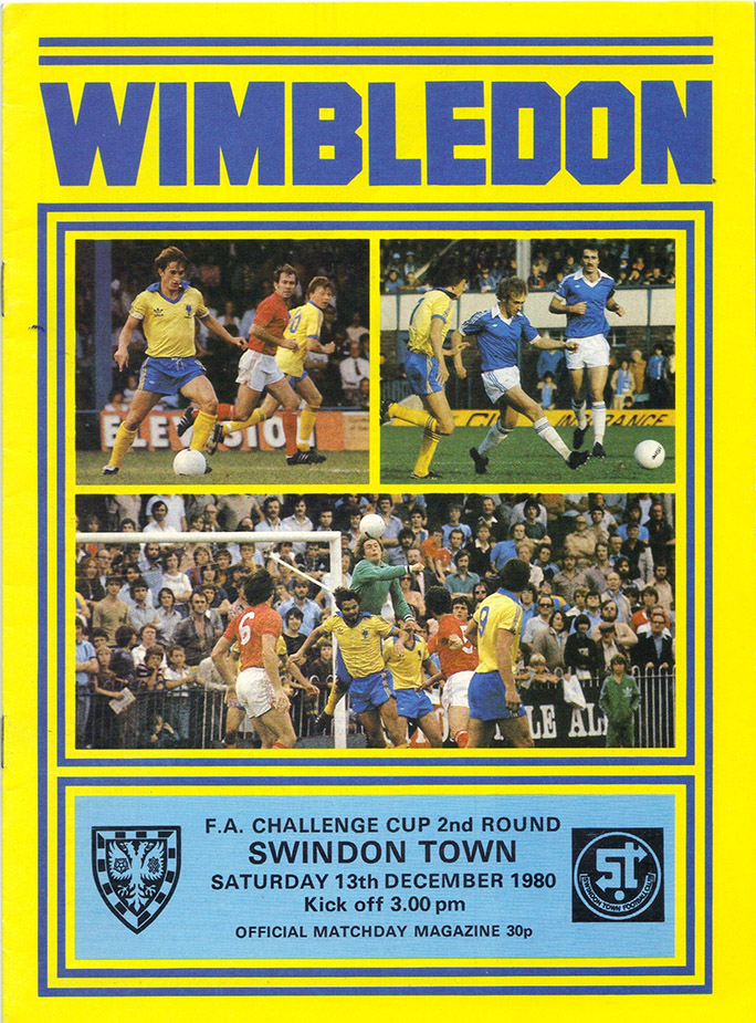 Saturday, December 13, 1980 - vs. Wimbledon (Away)