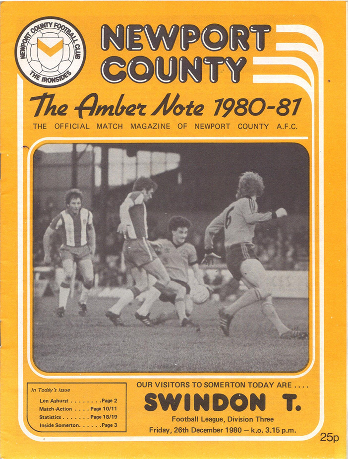 Friday, December 26, 1980 - vs. Newport County (Away)