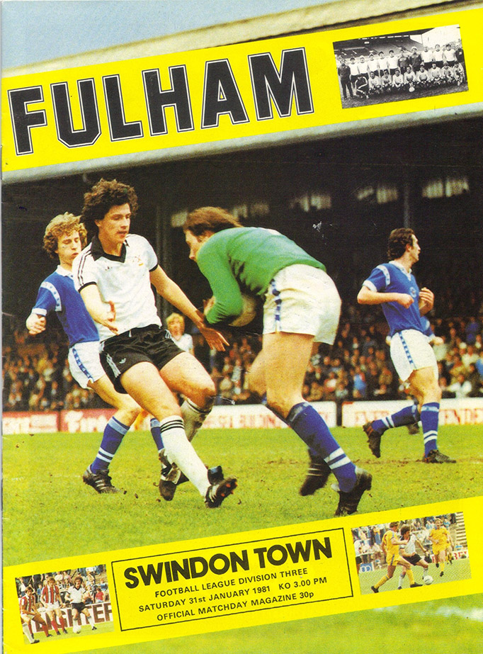 Saturday, January 31, 1981 - vs. Fulham (Away)