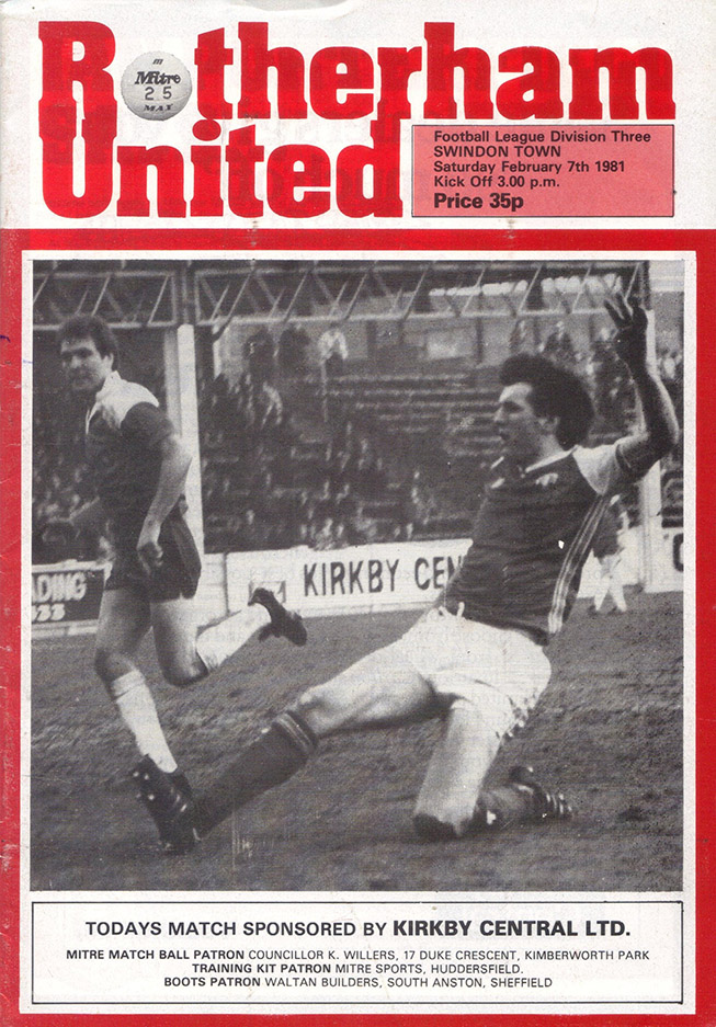 Saturday, February 7, 1981 - vs. Rotherham United (Away)