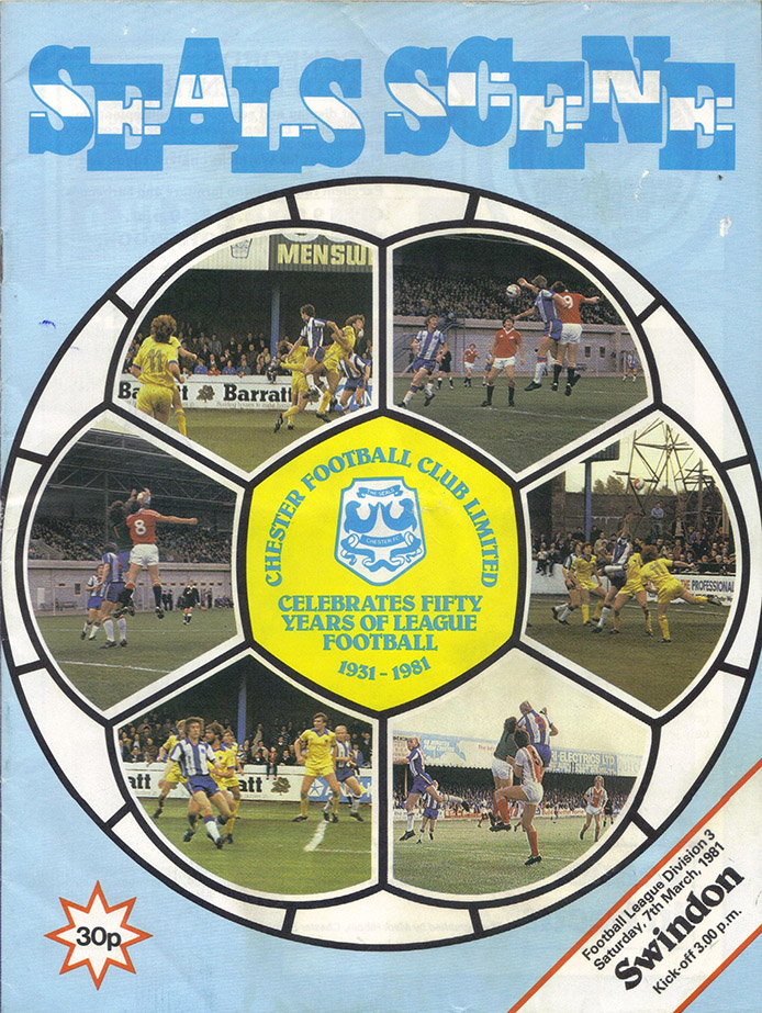 Saturday, March 7, 1981 - vs. Chester (Away)