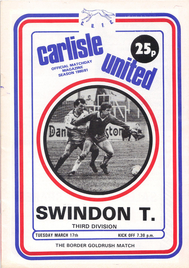 Tuesday, March 17, 1981 - vs. Carlisle United (Away)