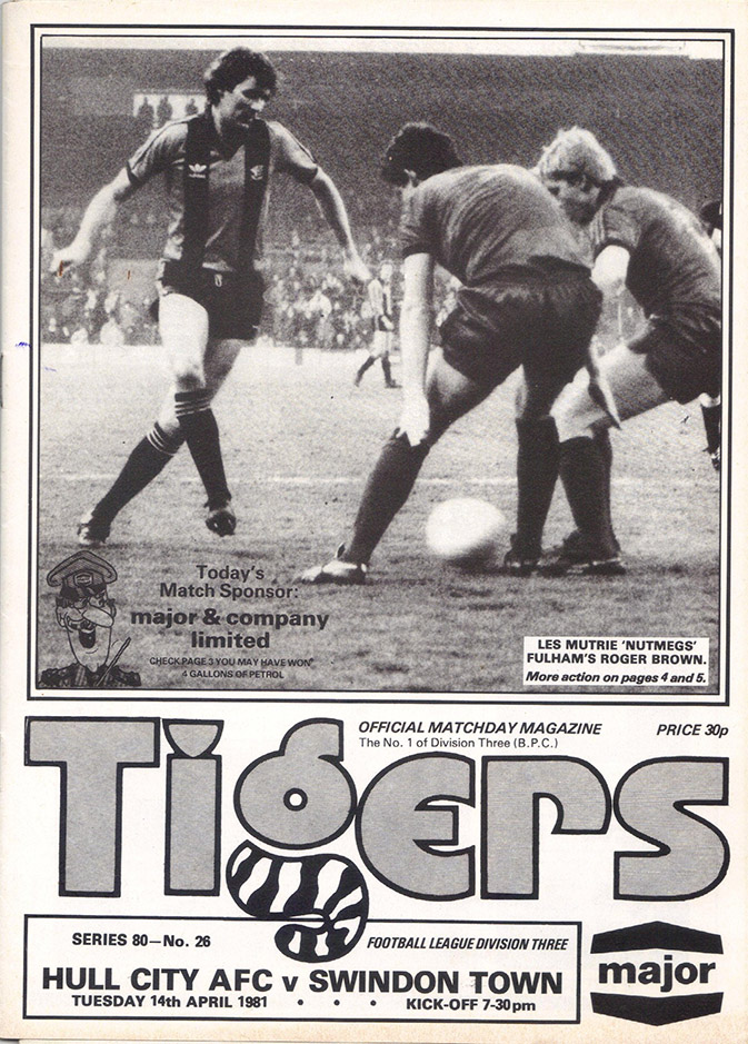 Tuesday, April 14, 1981 - vs. Hull City (Away)
