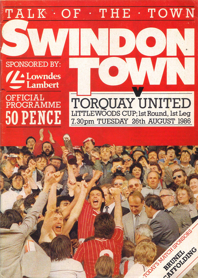 Tuesday, August 26, 1986 - vs. Torquay United (Home)