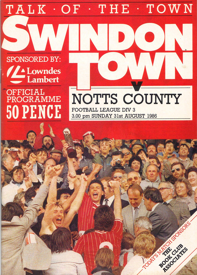 Sunday, August 31, 1986 - vs. Notts County (Home)