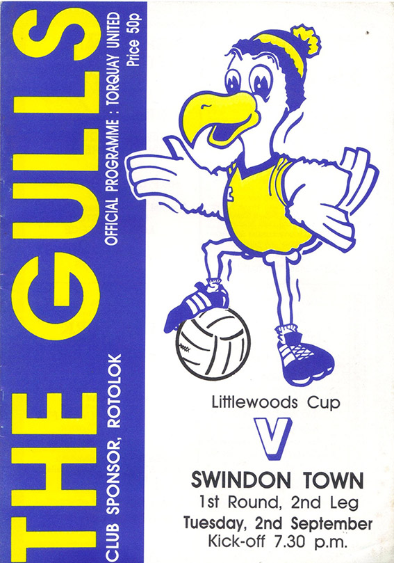 Tuesday, September 2, 1986 - vs. Torquay United (Away)