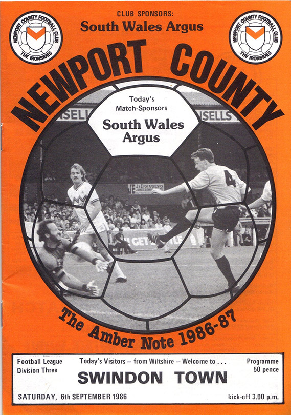 Saturday, September 6, 1986 - vs. Newport County (Away)