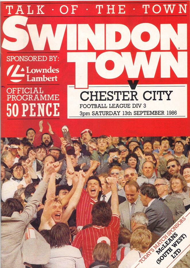 Saturday, September 13, 1986 - vs. Chester City (Home)