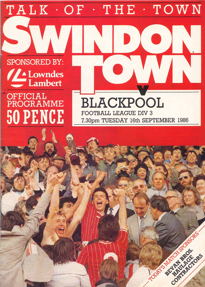 Tuesday, September 16, 1986 - vs. Blackpool (Home)