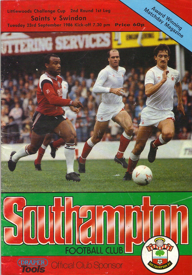 Tuesday, September 23, 1986 - vs. Southampton (Away)