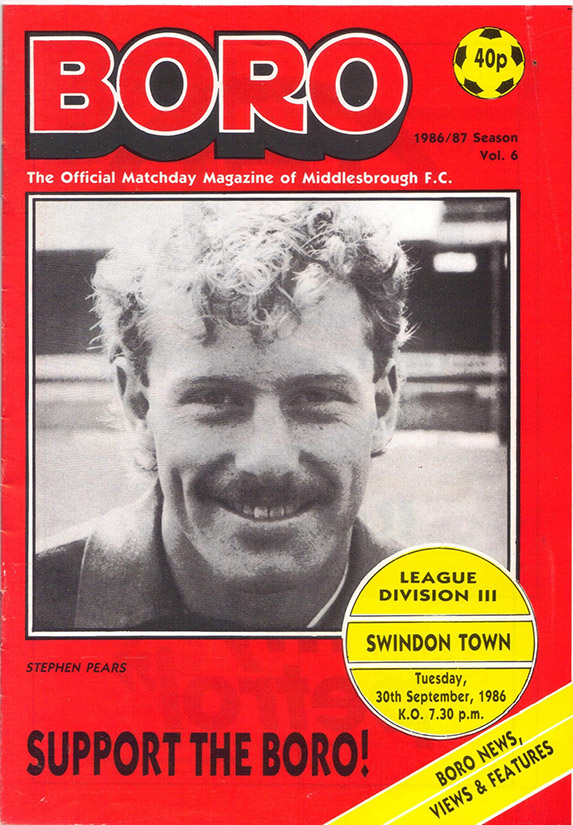 Tuesday, September 30, 1986 - vs. Middlesbrough (Away)