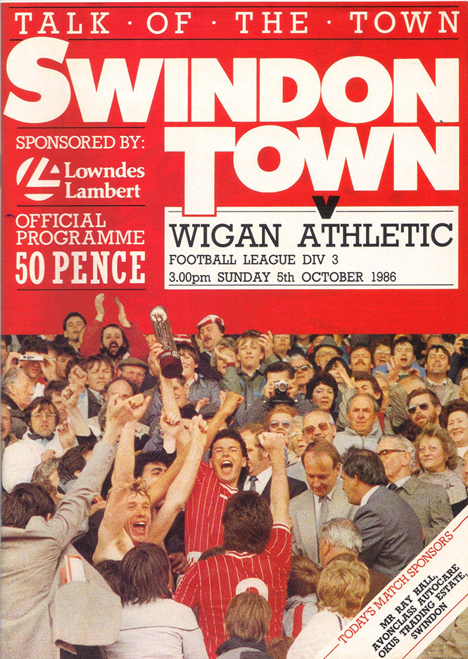 Sunday, October 5, 1986 - vs. Wigan Athletic (Home)