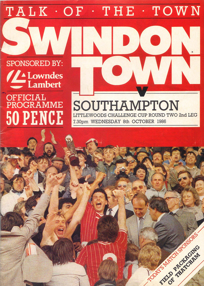 Wednesday, October 8, 1986 - vs. Southampton (Home)