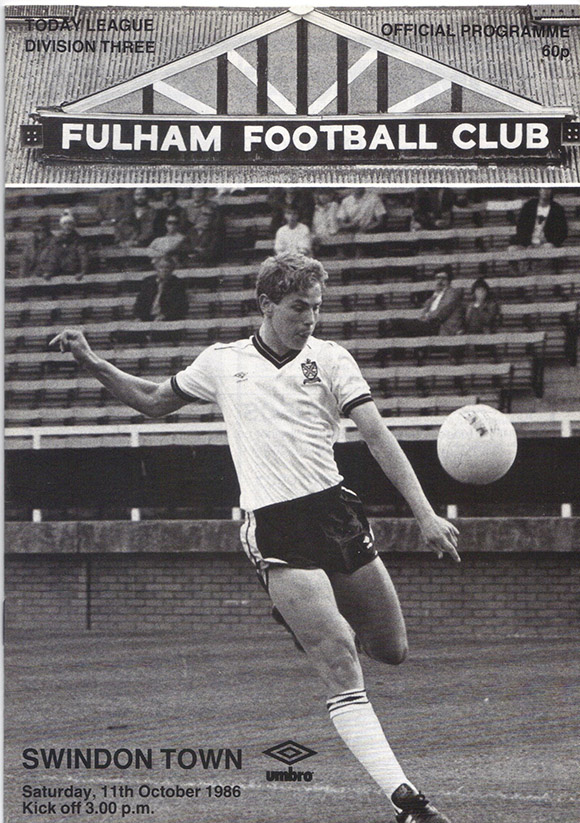 Saturday, October 11, 1986 - vs. Fulham (Away)