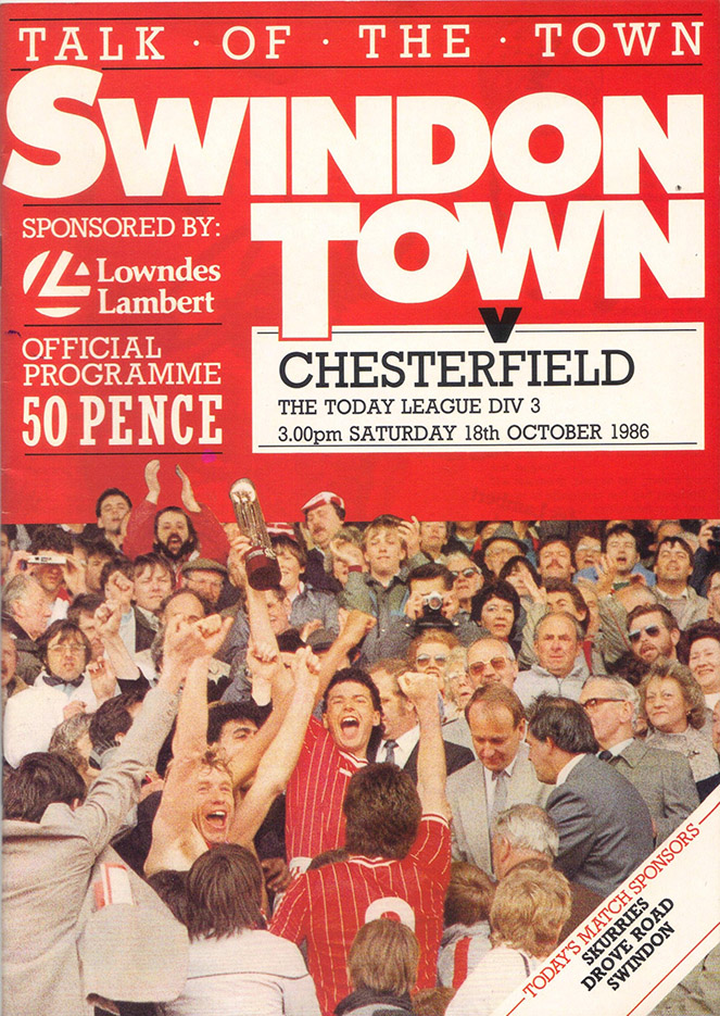 Saturday, October 18, 1986 - vs. Chesterfield (Home)