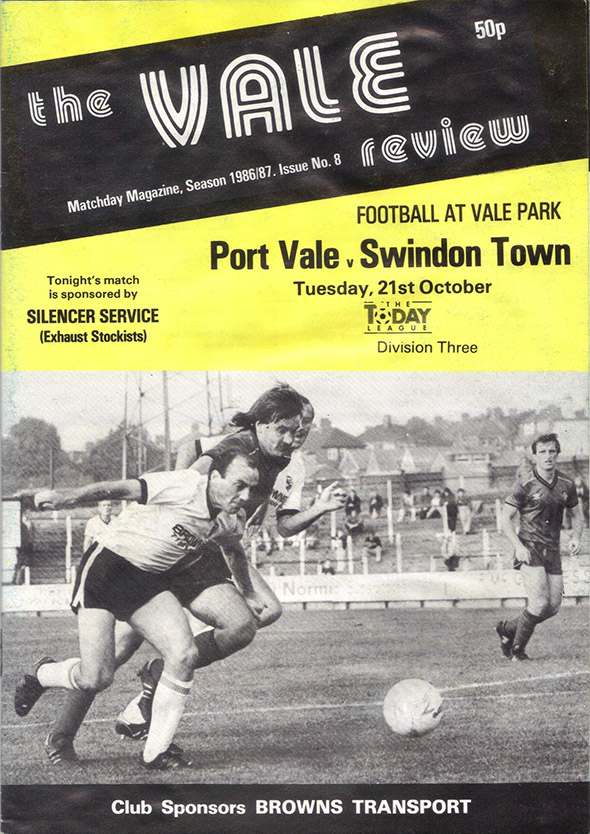 Tuesday, October 21, 1986 - vs. Port Vale (Away)