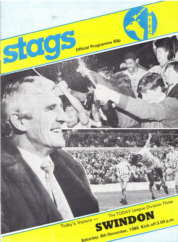 Saturday, November 8, 1986 - vs. Mansfield Town (Away)