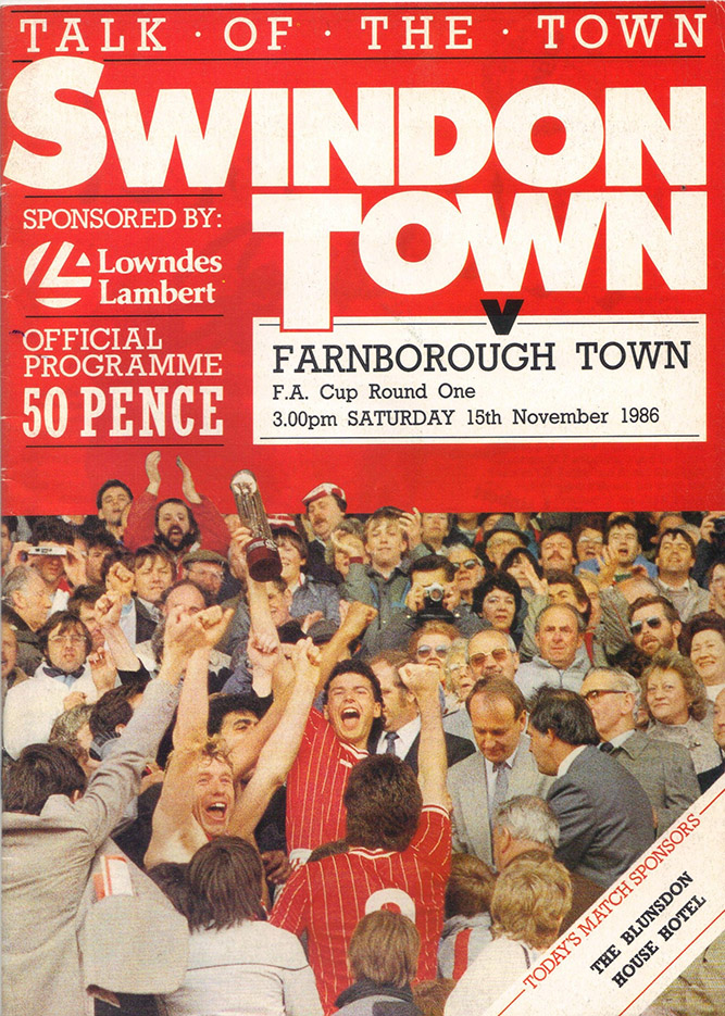 Saturday, November 15, 1986 - vs. Farnborough Town (Away)