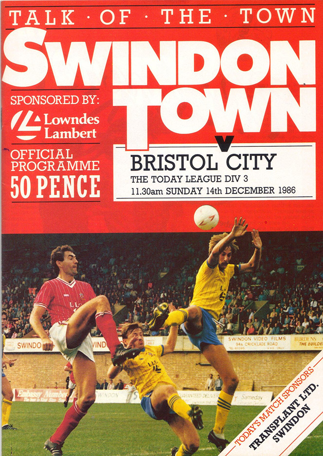 Sunday, December 14, 1986 - vs. Bristol City (Home)