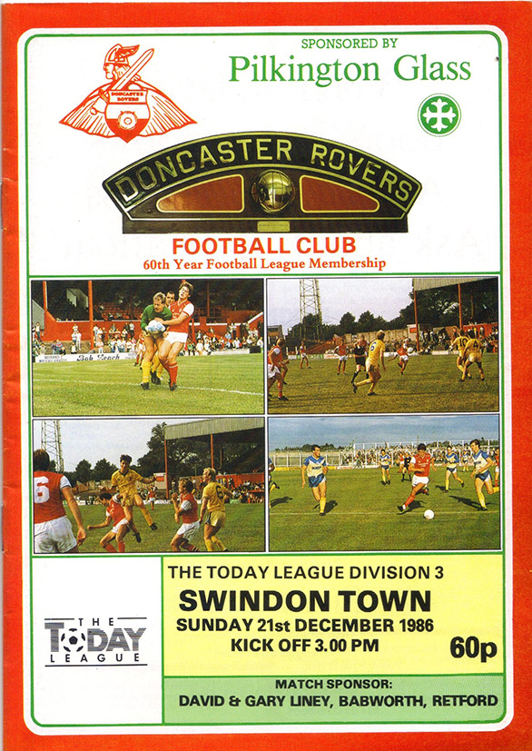 Sunday, December 21, 1986 - vs. Doncaster Rovers (Away)