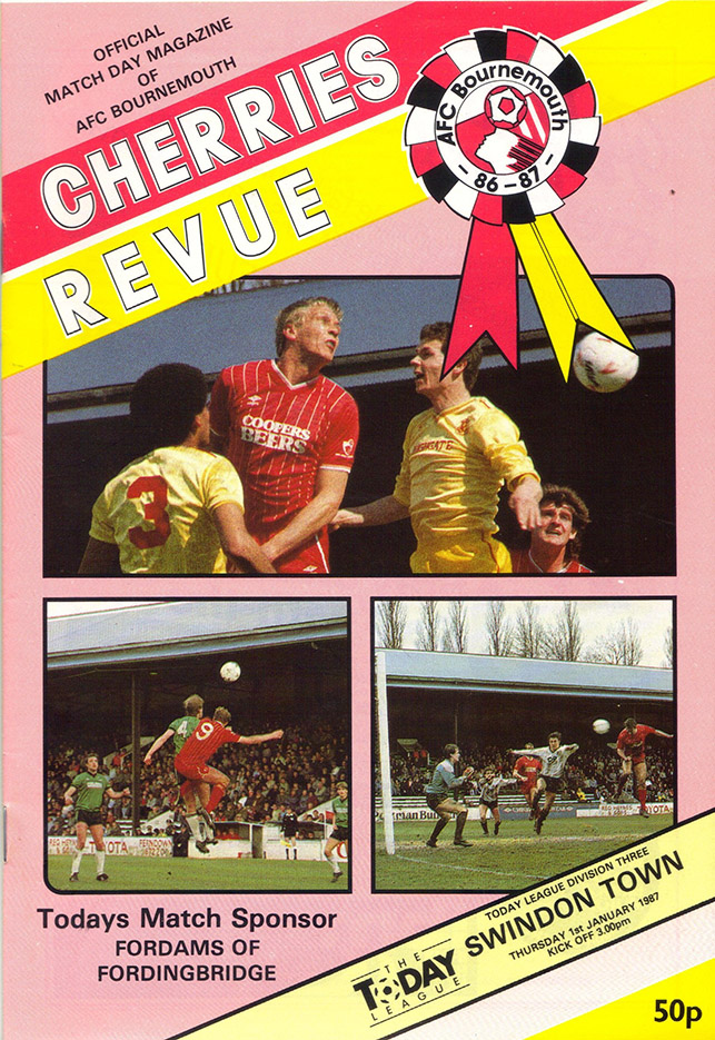 Thursday, January 1, 1987 - vs. AFC Bournemouth (Away)