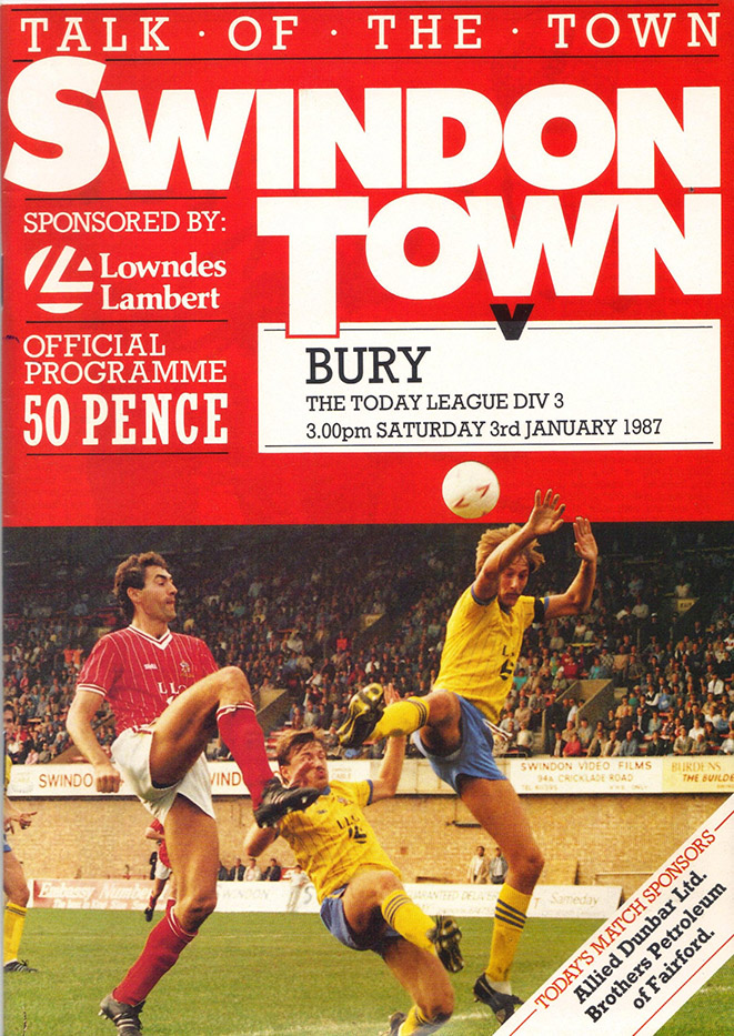 Saturday, January 3, 1987 - vs. Bury (Home)