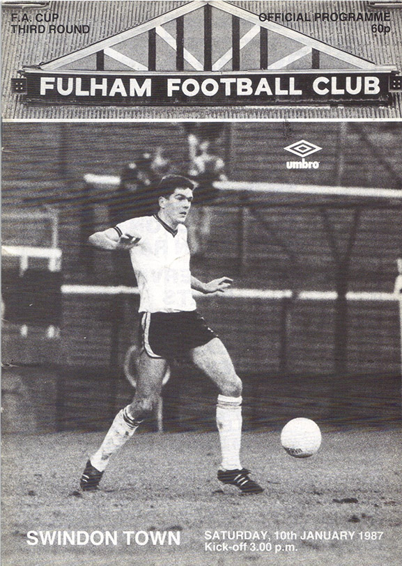 Saturday, January 10, 1987 - vs. Fulham (Away)