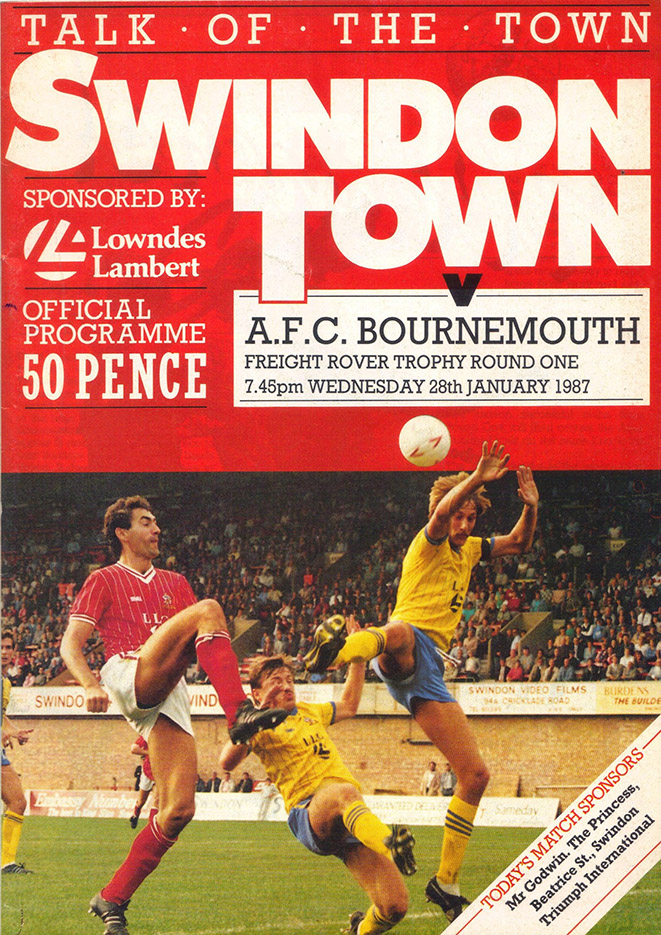 Wednesday, January 28, 1987 - vs. AFC Bournemouth (Home)