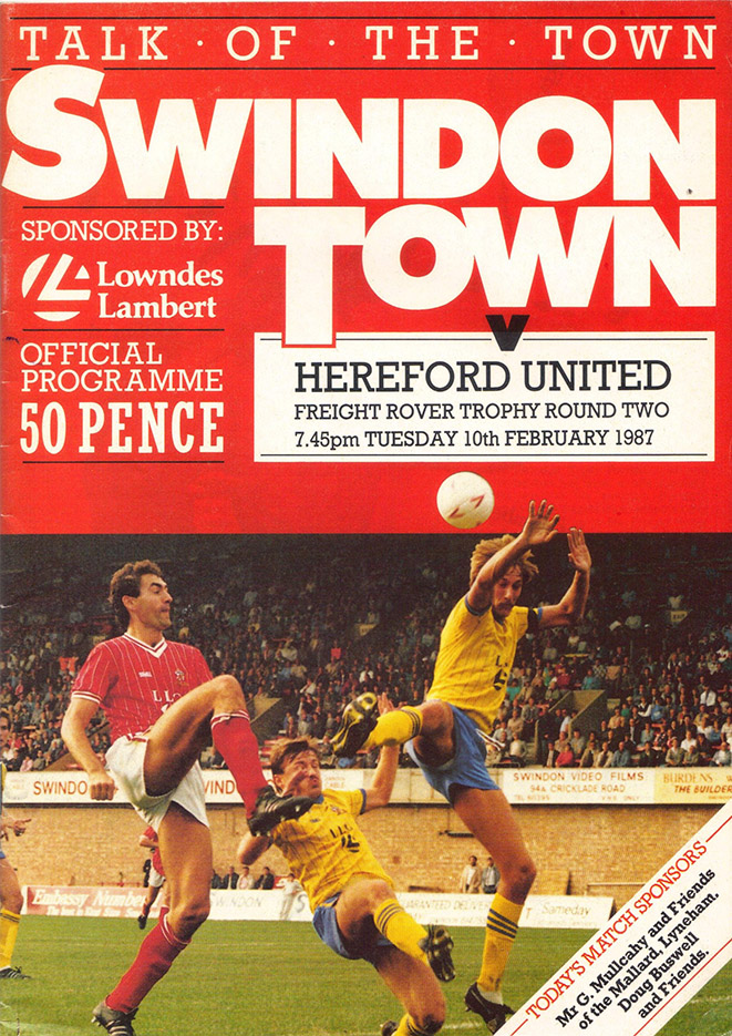 Tuesday, February 10, 1987 - vs. Hereford United (Home)