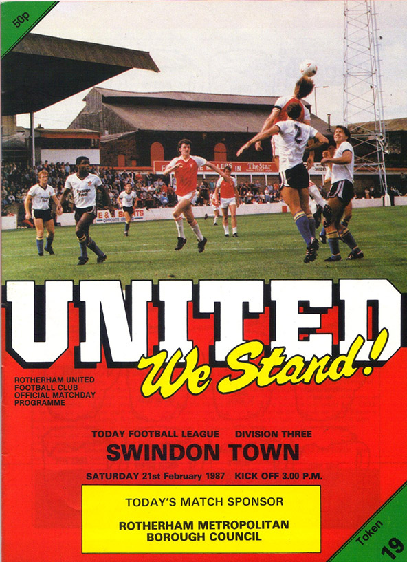 Saturday, February 21, 1987 - vs. Rotherham United (Away)
