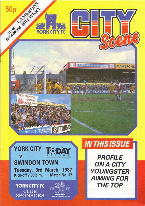 Tuesday, March 3, 1987 - vs. York City (Away)