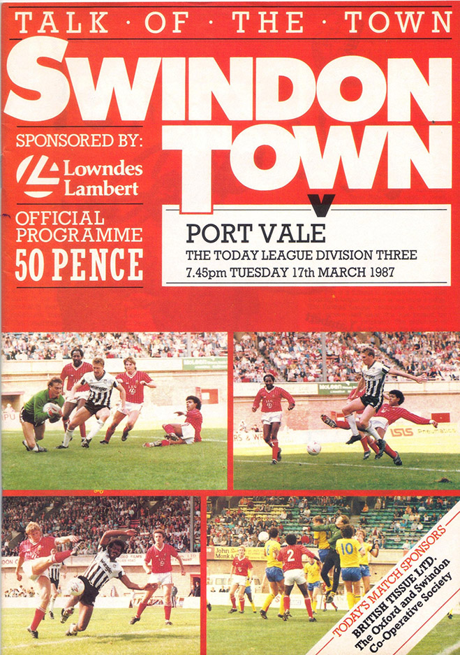 Tuesday, March 17, 1987 - vs. Port Vale (Home)