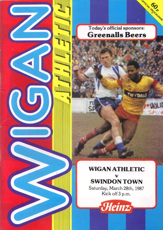 Saturday, March 28, 1987 - vs. Wigan Athletic (Away)