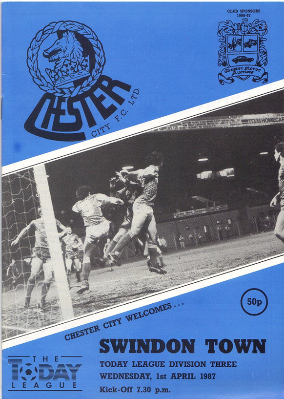 Wednesday, April 1, 1987 - vs. Chester City (Away)