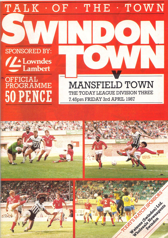 Friday, April 3, 1987 - vs. Mansfield Town (Home)