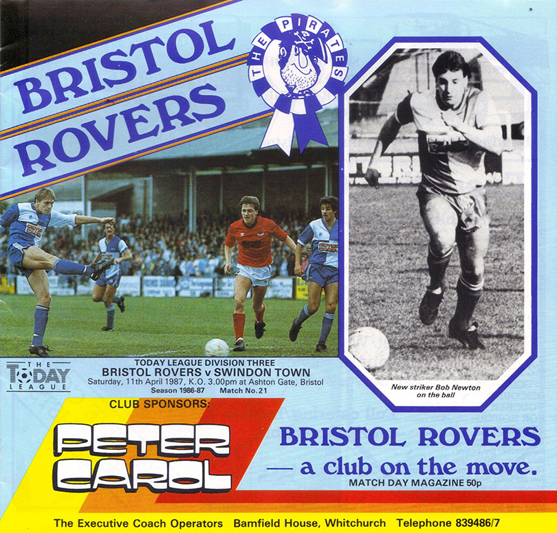 Saturday, April 11, 1987 - vs. Bristol Rovers (Away)